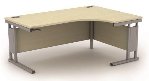 AVALCR01 Avalon Height Adjustable Right-hand Corner Desk, 17 Finishes, Free Installation, 5 Year Warranty