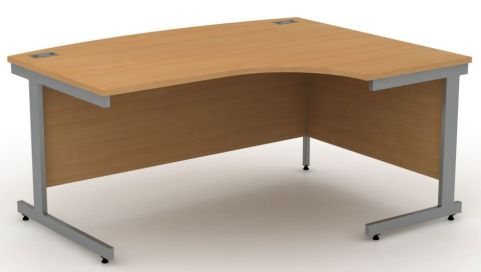 AVALON7 Avalon Right Hand Bow Fronted Corner Desk, 17 Colours Available