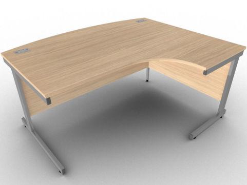AVALON7 Avalon Verade Oak Bow Fronted Corner Desk, 17 Finishes, 5 Year Warranty