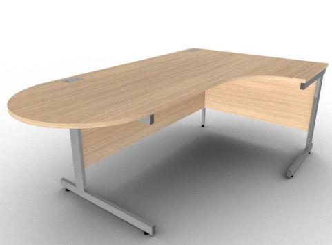 AVALON9A Right Hand Interactive Verade Oak Corner Desk, 17 Finishes, Free Installation