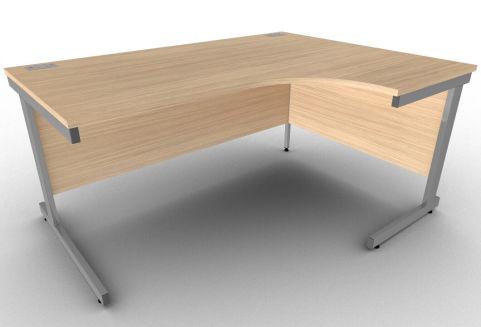 Avalon Verade Oak Ergonomic Right Hand Corner Desk, Free Delivery And Installation, 17 Finishes