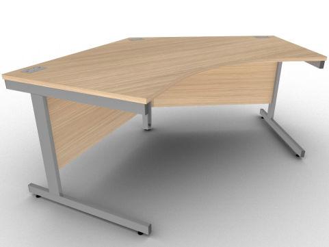 Avalon 800mm Deep Pentagon Desk In Verade Oak