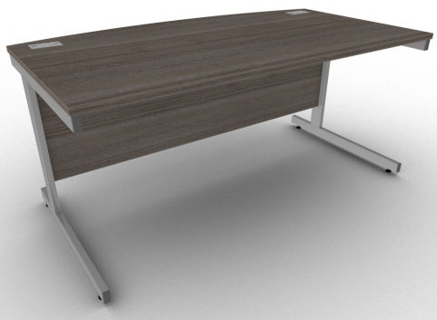 Avalon Anthracite Bow Fronted Office Desk, 5 Year Warranty, Free Delivery And Installation