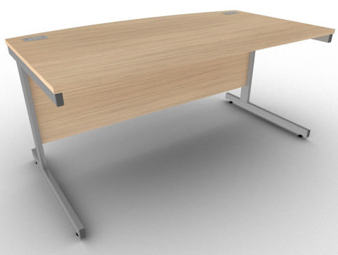 Avalon Verade Oak Bow Fronted Office Management Desk, 17 Finishes, Free Installation