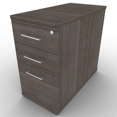 AVA63 Avalon 800mm Desk Height Pedestal In Anthracite With Lockable Top Drawer, Constructed From Sturdy Melamine With A 5 Year Warranty