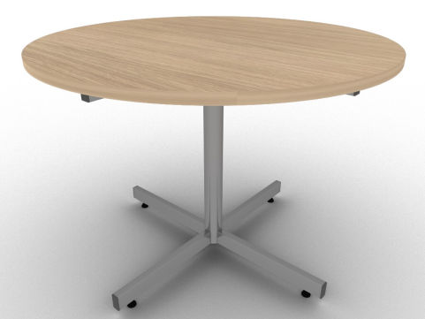 Avalon Verade Oak Circular Meeting Table With Thick Easy To Clean MFC Top