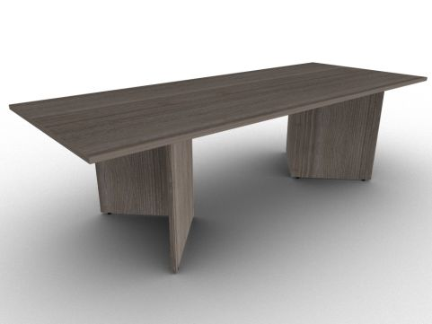 Anthracite Rectangular Table With Arrowhead Base, Wipe Clean Scratch Resistant Melamine, Free Delivery And Installation