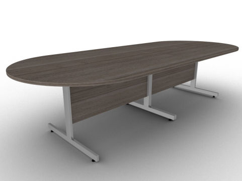 Avalon Anthracite Sectioned Boardroom Table With ABD Edge Protection And A Sturdy Steel Frame