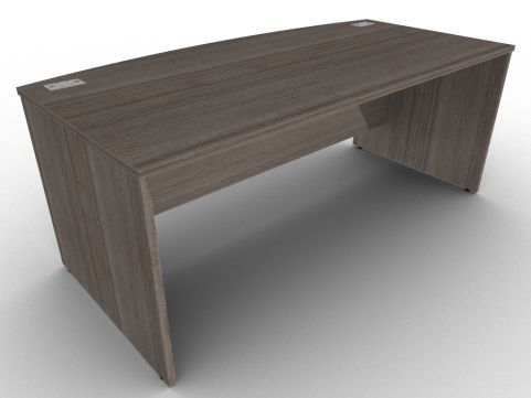 Avalon Anthracite Bow Fronted Desk With Side Panels, Floor Levellers, FIRA Accreditation, Free Delivery