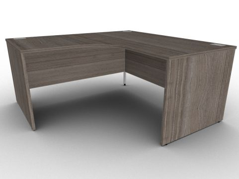 Anthracite Extra Large Corner Desk Panelled Sides Available In A Range Of Finishes With