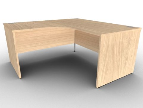 Verade Oak Extra Large Corner Desks With Panel Sides, 15 Finishes, Free Delivery And Installation