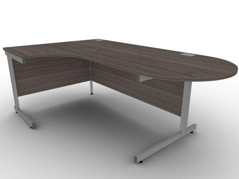 Avalon Anthracite Left Hand Interactive Corner Office Desk