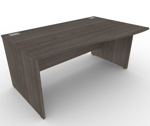 AVALON43 Avalon Right Hand Wave Panel Desk, High-quality Wood Finishes, Free Installation