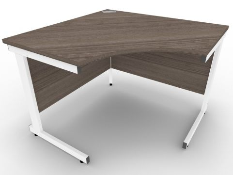 AVALON58 Anthracite Symmetrical Cantilever Corner Desk, White Metal Frame, Available In 15 Finishes, Free Installation