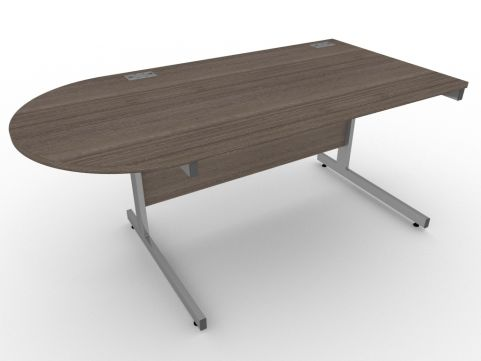 AVALON56 Avalon Left Hand Desk With D Meeting End, Anthracite, 5 Year Warranty, Free Delivery