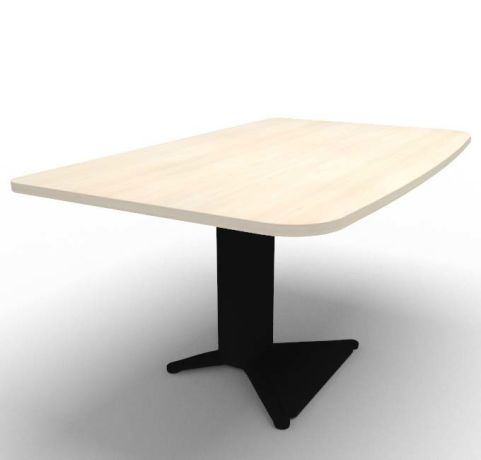 Energie Straight Desk Acacia Black 1400mm
