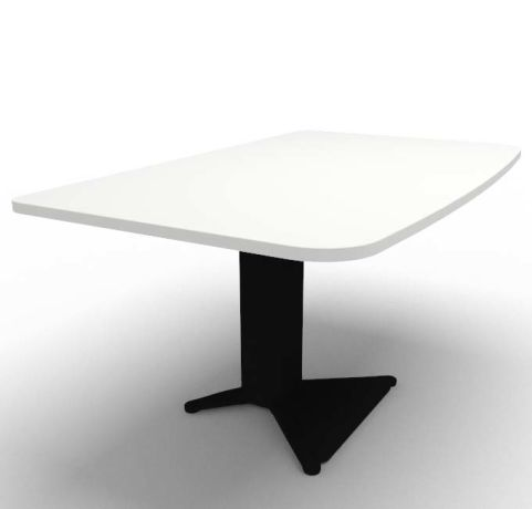 Energie Straight Desk White Black 1400mm