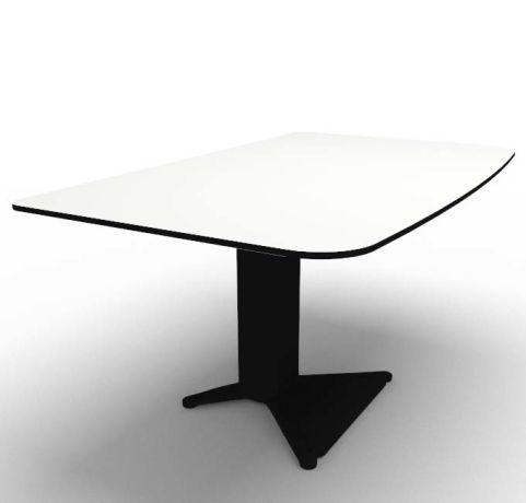 Energie Straight Desk Compact Laminate Black 1400mm