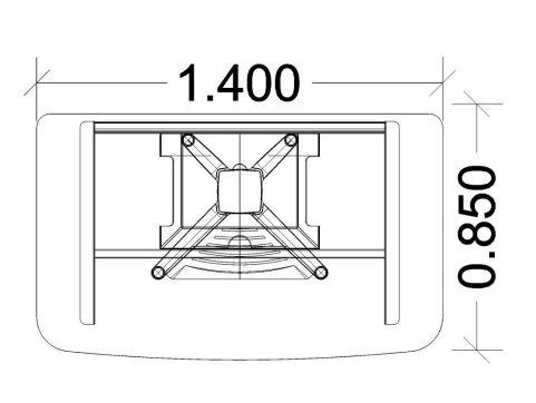 Energie Straight Desk 1400mm Dimensions
