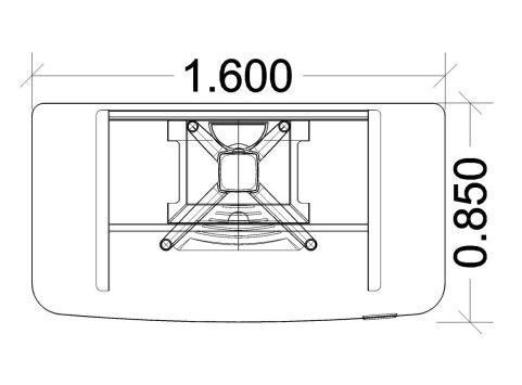 Energie Straight Desk 1600mm Dimensions