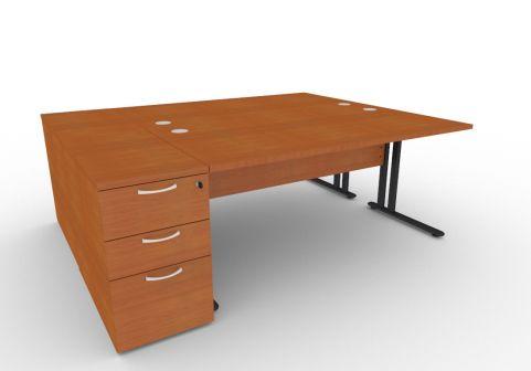 Optimize Two Person Desk Bundle Deal In Cherywood V2