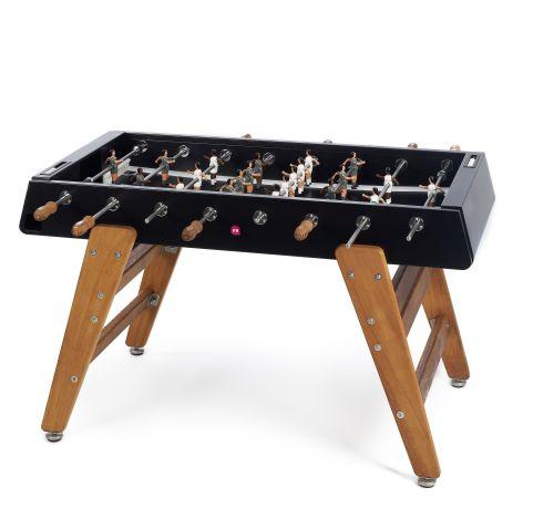 RS#3 Table Football Black Wooden Legs