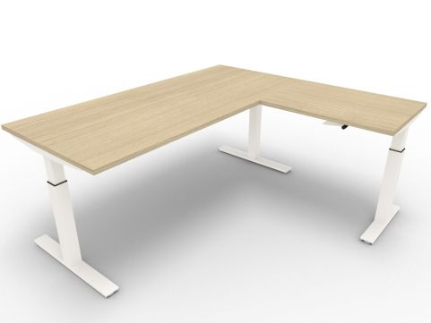 Height Adjustable Corner Office Desk Novara Office Reality