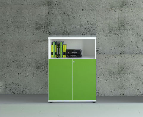 GLOSS DOOR LIME GREEN OPEN TOP UNIT