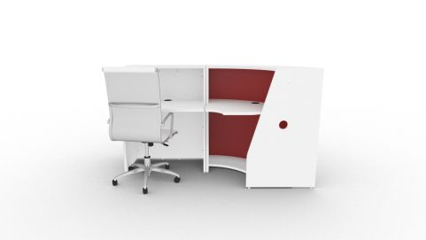 Bienvenue 1860 Desk Red And White