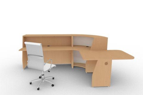 Bienvenue 850 Desk Beech Back