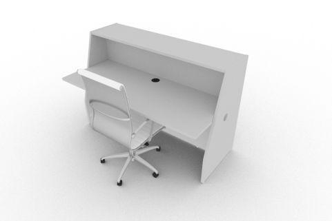 Bienvenue 1650 Desk Grey Back
