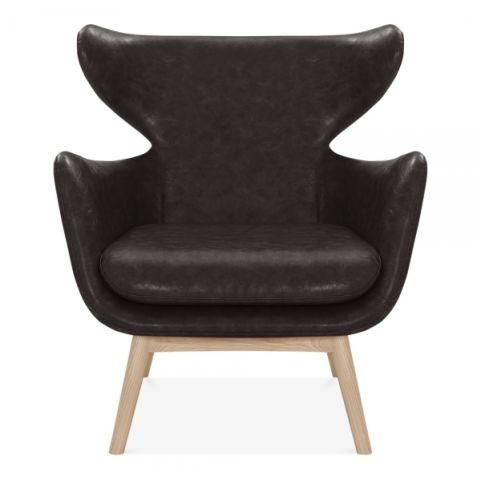 Officereality -winged-armchair-faux-leather-upholstered-brown