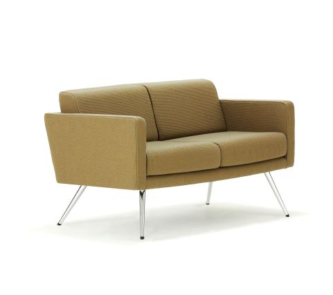 Fifty Series Sofa Chrome Legs Side View