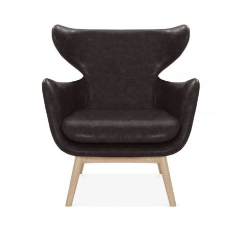 SCANDI WING 1 SEATER SOFA FAUX LEATHER