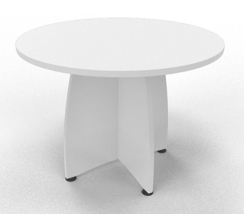 OPTIMIZE ROUND MEETING TABLE White