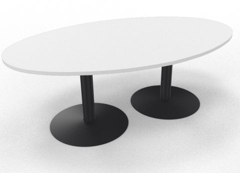 OPTIMIZE ELLIPTICAL MEETING TABLE - ROUND BASE Black And White