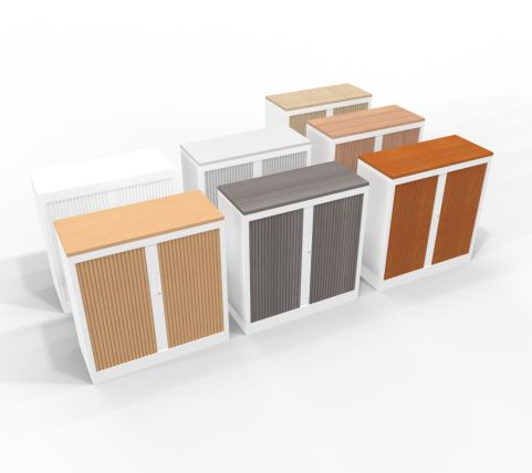 Two Tone Tambour Units With Tops