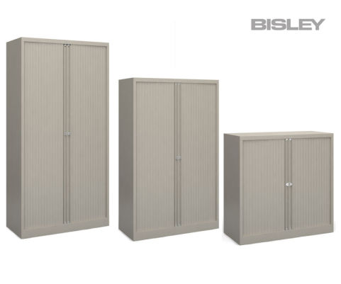 Next Day Bisley Contract Tambour Unit GREY