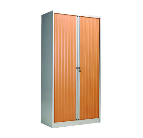 Bisley Tamboour Unit 1980mm High Beech Silver