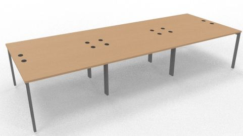 Saturn Six Person Table Beech