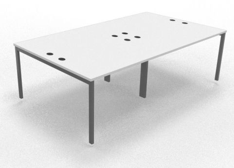 Mercury Four Person Table White 2400