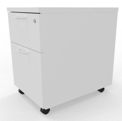 Draycott Mobile Pedestal White Side Shot