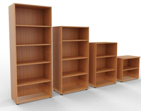 Draycott Wooden Bookcases Beech