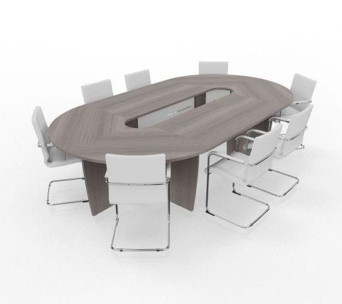 Biarritz Oval Shaped Modular Table Cedar