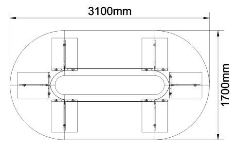 Biarritz Oval Shaped Modular Table