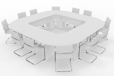 Biarritz Large Square Modular Table White