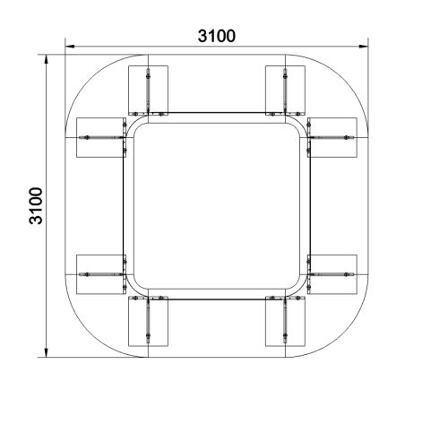 Biarritz Square Table Dimensions
