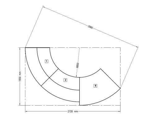 Genua Recption Desks Dimensions 1