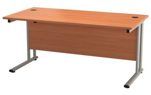 Ziggy Rectangular Desk In Beech Front View