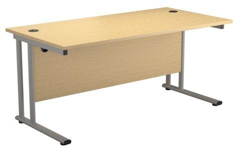 Ziggy Rectangular Desk In Maple Angled View